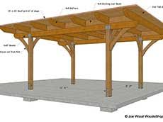 patio cover plans free standing. 14\u0027 X 20\u0027 Freestanding Patio Cover With Sloped Roof | $50. Plans Free Standing E