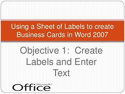 how to create business cards in word creating business cards with word 2007