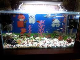 Mario Brothers Aquarium Decorations Super Mario Bros Water Stage Fish Tank Background I Printed All