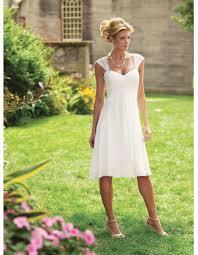 simple knee length informal wedding dresses empire short