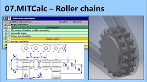 Roller Sprocket Design Roller Chain Calculation And Design Mitcalc 07