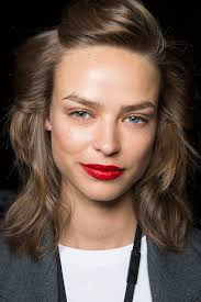 saturated red lips