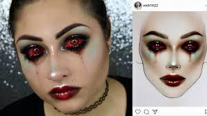 demon makeup tutorial milk1422 recreation makeup tutorial