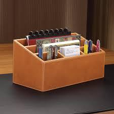 Decorative Desk Accessories Sets Inspiration Morgan Unifier Leather Desk Organizer Levenger
