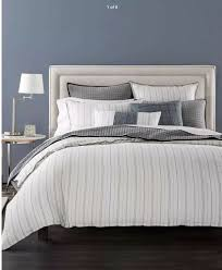 details about hotel collection linen ticking stripe full queen duvet cover white 385