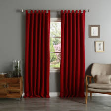 aurora home tab top thermal insulated 95 inch blackout curtain panel pair cardinal red