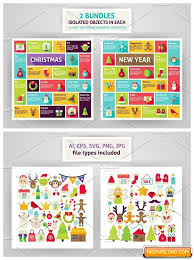 Christmas New Year Infographics Free Download Free