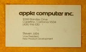 Steve Jobs Business Card From 1979 Network World