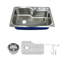 kitchen sink kit meridian stainless steel drop in kitchen sink kit with bottom grids flip kitchen sink kit