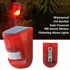 Motion Light With Alarm Details About Solar Blinking Led Alarm Light Sensor Outdoor Wireless Solar Power Lamp Alarm