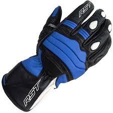 rst jet ce leather gloves black blue
