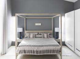 black bedroom furniture wall color. Beautiful Black Gray Works With Any Other Color Striped Bedding On Canopy Bed  Inside Black Bedroom Furniture Wall Color