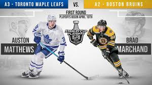 bruins will play maple leafs in eastern