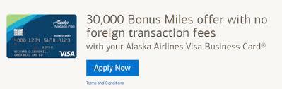 Bank Of America Alaska Airlines Business Card Now 30000 Mile Bonus
