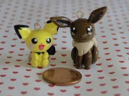 polimer clay | Polymer Clay Pichu and Eevee Charms by sanxcharms on  DeviantArt