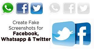 To Whatsapp Twitter Screenshots How Fake Etc Create Facebook For