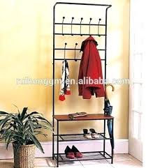 Shoe And Coat Rack Fascinating Hallway Bench And Coat Hook Shoe Storage Metal Entryway Bench With