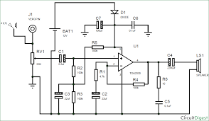 subwoofer lifier using ic tda2030 circuit diagram
