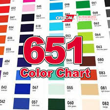 651 Color Chart Oracal 651 Color Chart