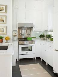 kitchen design white cabinets white appliances. Narrow Kitchen With White Cabinets To Ceiling Design Appliances E