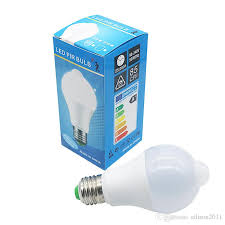 edison2016 10w lighting bulb b22 e27 pir motion sensor aluminum design led night light 10w 85 265v lamp for balcony corridor path garden led can light bulbs