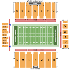 Tubby Raymond Field At Delaware Stadium Seating Charts For