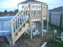mounting above ground pool steps to deck photo gallery builders