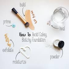 avoid cakey makeup and blotchy foundation