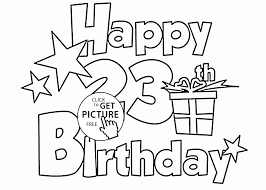 Happy 23rd Birthday Coloring Page For