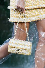chanel bags 2018. chanel yellow tweed classic flap bag 2 - spring 2018 bags f
