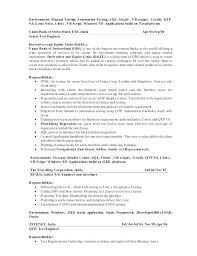 Software Tester Sample Resume Tester Entry Level Entry Level Tester