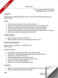 insurance sales resume sample objective skills