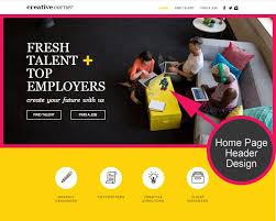 web home design. website template design - header web home i