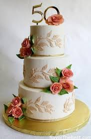 50th Anniversary Cake Design Savor The Best