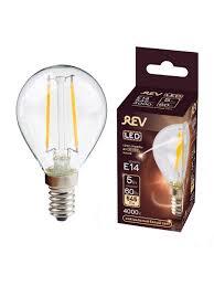 <b>Лампочка светодиодная</b> FILAMENT, <b>шар</b> E14 5W 4000K DECO ...