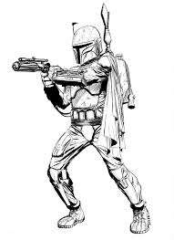 jango fett coloring page. Simple Jango Black And White Coloring Pages Star Wars Quigon  Google Search To Jango Fett Coloring Page