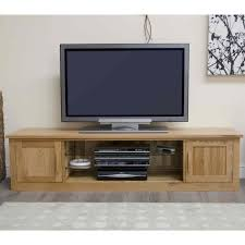 Living Room Furniture Oak Arden Solid Oak Living Room Furniture Large Widescreen Tv Cabinet