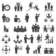 Business People In Work Office Icons Conference Computer Work