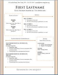 resume template    resume template sample resume template    resume template sample resume template microsoft word free download with electromechanical technician experience ms