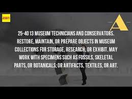What Is A Museum Technician Youtube