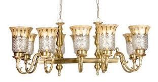 unique horizontal cast 10 light chandelier