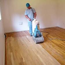 can you sand a wood floor with a belt sander