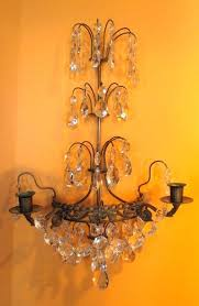 sconces crystal candle sconce antique chandeliers and sconces french pair gilt brass glass wall holder
