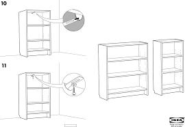 Ikea Instruction Manuals Ikea Storage Furniture Billy Bookcase 41 3 4 Tall Pdf Assembly