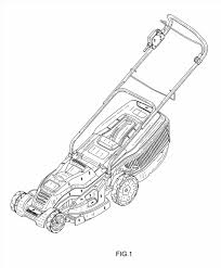 lawnmower drawing. gas walk behind model craftsman lawnmower drawing parts patent usd google i