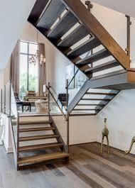 Modern museum staircase landing