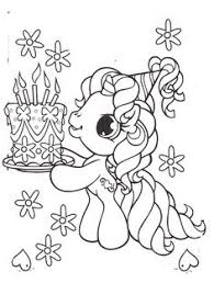 little pony brought a birthday cake coloring pages my little pony car coloring