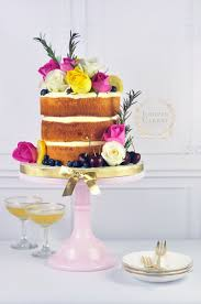 Naked Cake With Rosemary Candied Lemon Slices