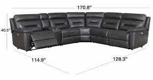 corry 6 piece leather power reclining