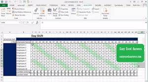 microsoft office schedule maker automatically create shift schedule in excel